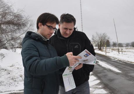 Michal Bareš a Josef Jíra na jednom z možných stanovišť